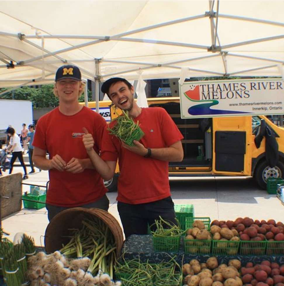 Thames River Farms stand at Nathan Phillips Farmers' Market