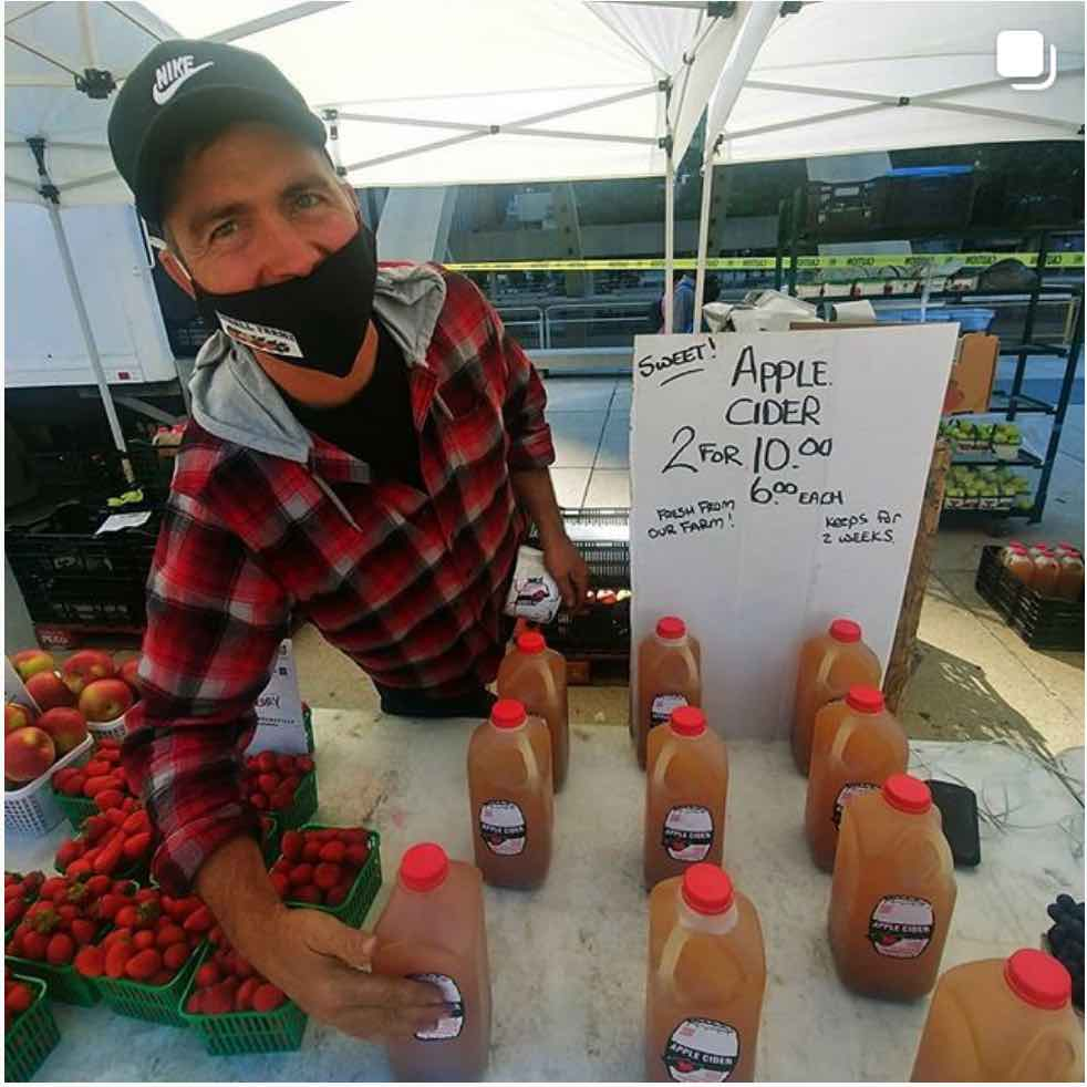Clay Eborall's stand at Nathan Phillips Farmers' Market
